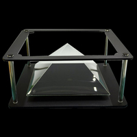 Generation II Holographic Tablet PC 3D Projection Pyramid DIY For Max 12 Inches Tablet PC Ipad