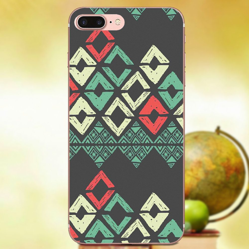 Qdowpz Soft Tpu Cover Geometric Tribal Chevron Wallpaper For
