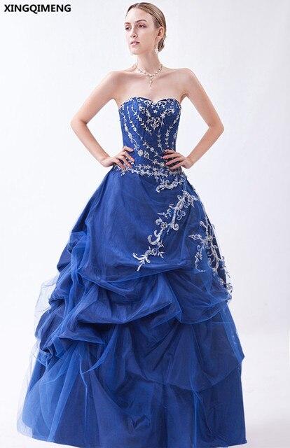de2fd2e176d0 Tulle Raso Abiti Quinceanera Blu Elegante vestidos de 15 anos Dolce 16 Abiti  di Paillettes Abiti ...