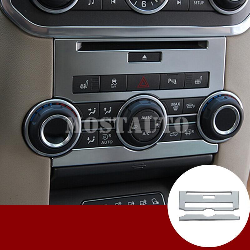 Para la cubierta del panel del CD de la consola central interna de Land Rover Discovery 4, ajuste 2012-2016 2 piezas