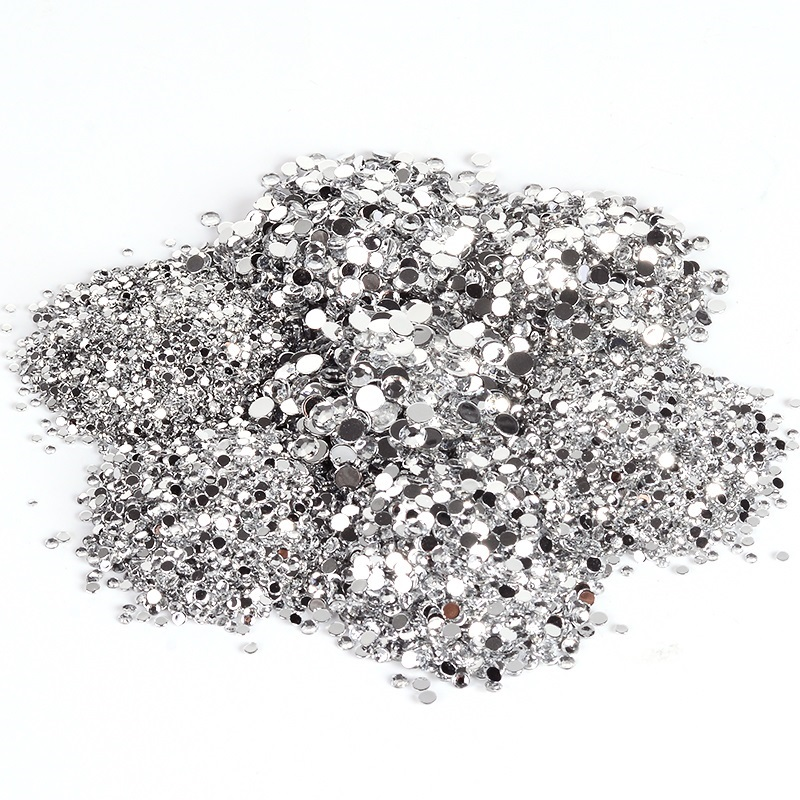 1000pcs Mixed size Clear Crystal AB Rhinestones Nail Art Rhinestones For Nails 3D Nail Art Decorations Manicure Accessories