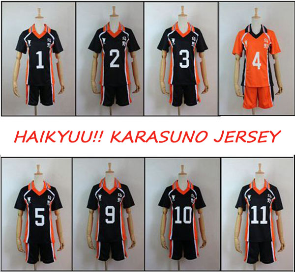 9Styles Haikyuu!! Karasuno High School Sportswear Cosplay Costume Haikiyu Hinata Shyouyou Kageyama Tobio Jersey Uniform