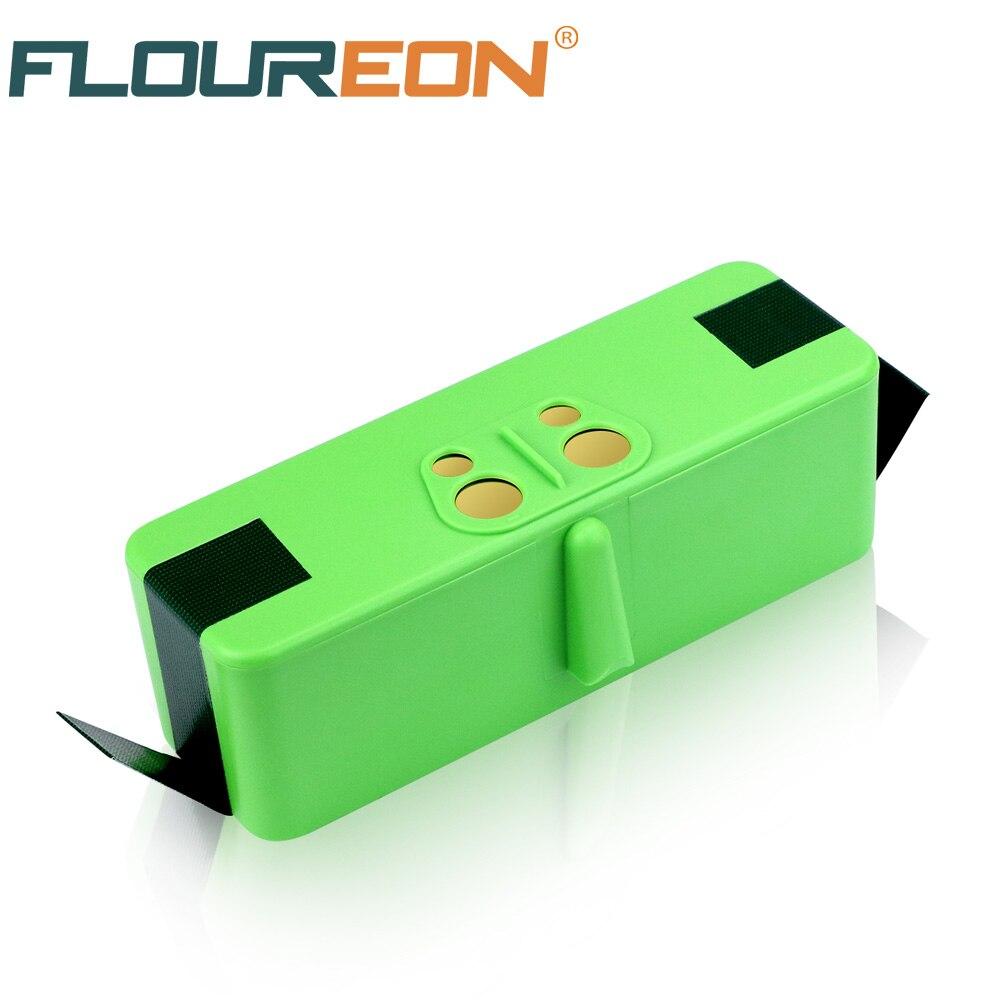 Floureon 14.8 v 5300 mah Li-ion Batterie Rechargeable batterie Au Lithium batteryfor iRobot Roomba 500 600 700 800 900 Série
