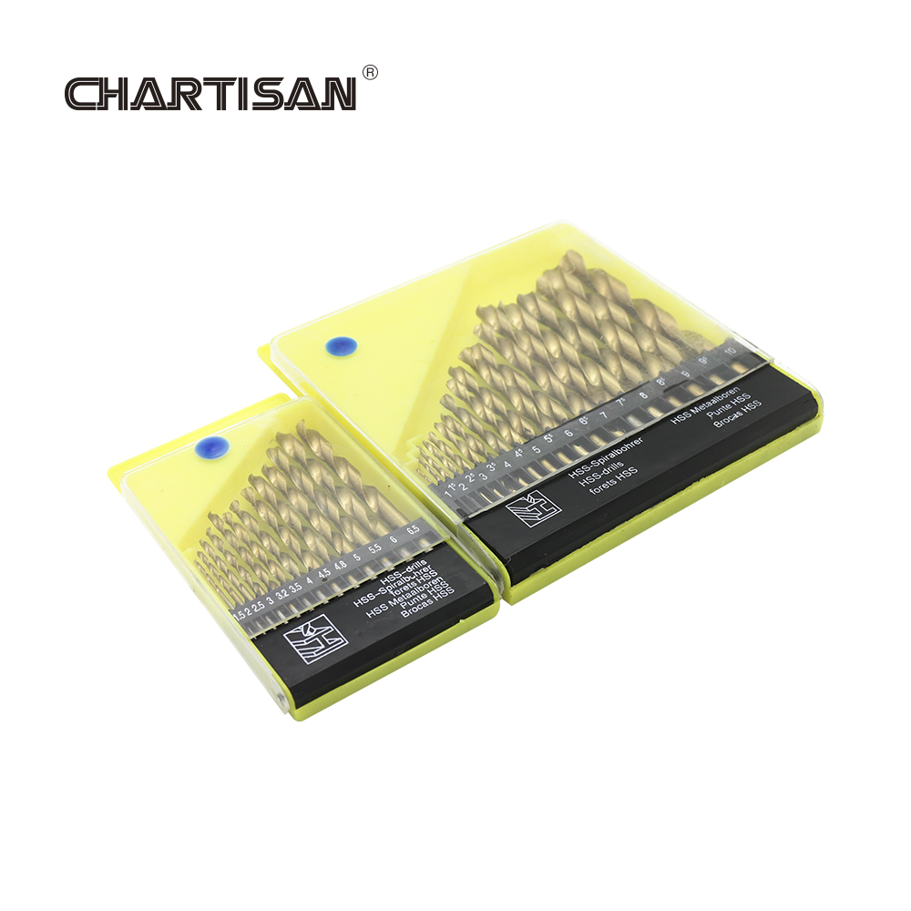 CHARTISAN Titanium Coated HSS Twist Drill Bits Set