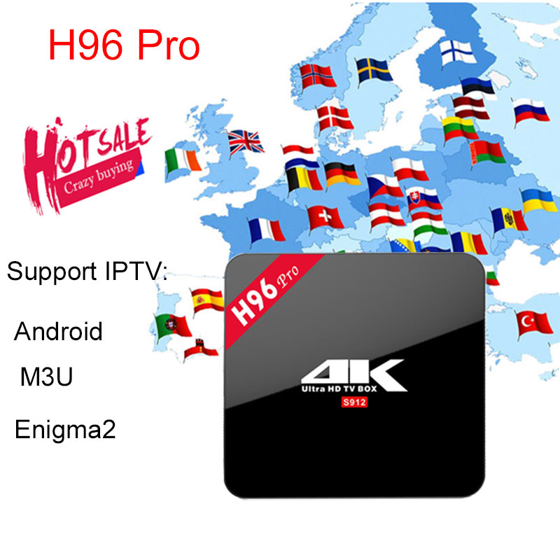 2018 H96 PRO 2G/16GB Amlogic S912 Octa Core Smart Android7.1 TVBox Best HD Stable Italy Poland French Arabic Turkish IPTV 1800+ frommer s® northern italy s best–loved driving tours