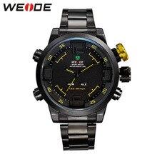 Weide quartz sports wrist watch casual genuine stainless steel silver  dress watch fashion casual men watch quartz contracted все цены