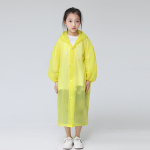 Image 4 - Keconutbear Fashion EVA Children Raincoat Thickened Waterproof Rain Coat Kids Clear Transparent Tour Waterproof Rainwear Suit