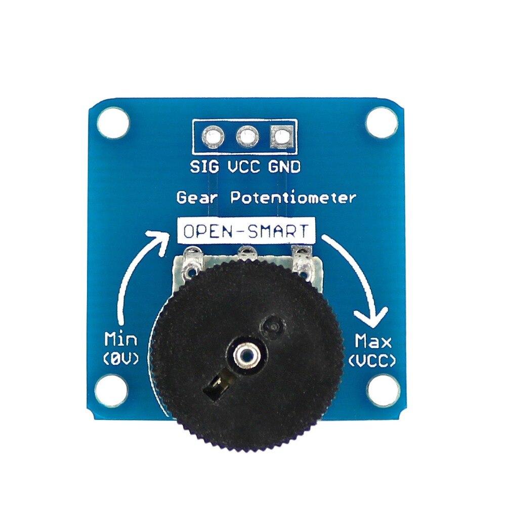 Один совместных Шестерни потенциометра Сенсор модуль для Arduino B503 50 К потенциометра Breakout доска свет и объем Управление цепи