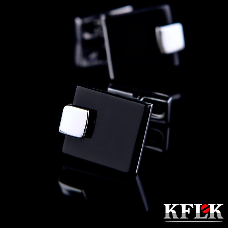 KFLK Jewelry French shirt Fashion cufflinks for mens Brand Black Cuff link Wholesale Wedding Button High Quality Free ShippingKFLK Jewelry French shirt Fashion cufflinks for mens Brand Black Cuff link Wholesale Wedding Button High Quality Free Shipping