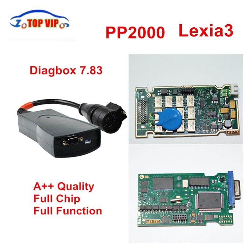 Цена за DHL доставка! + + Качество полный чип PP2000 921815C прошивки Diagbox 7.83 Lexia 3 PP2000 NEC Реле OBD2 диагностический инструмент сканер
