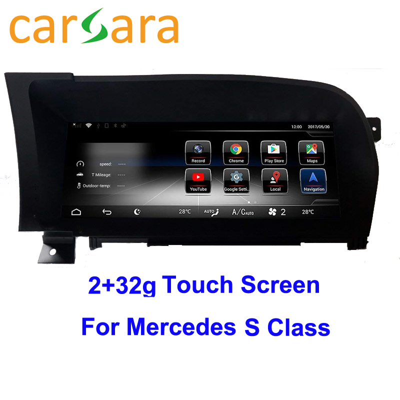 Car Radio GPS Navigation Bluetooth WiFi Head Unit Screen for Mercedes Ben z S Class W221 2005-2013 S280 S320 S350 S400 S5 AMG android 6 0 car dvd player for mercedes benz s class w220 s280 s320 s350 s400 s430 s500 w215 car audio stereo multimedia gps