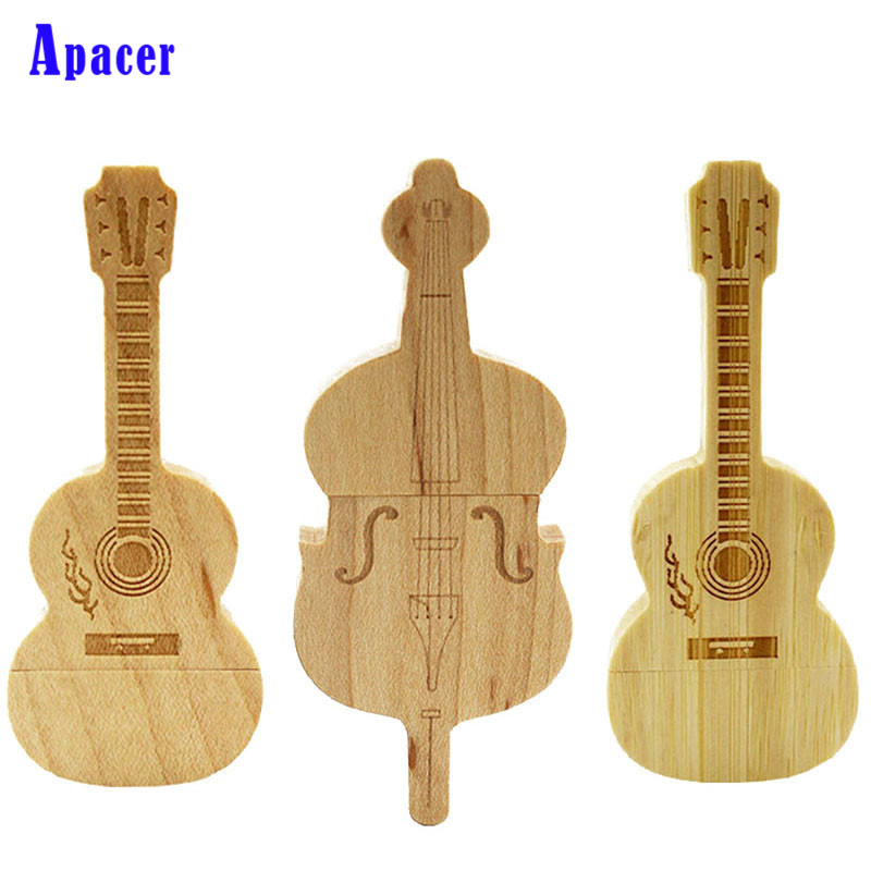 Apacer violin/guitar-shaped pen drive 4GB 8GB wooden guitars model usb flash drive usb2.0 card