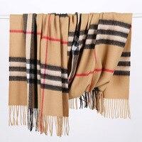 MS кашемировый шарф новый завод зима большой сетки 330 г овечьей шерсти шаль