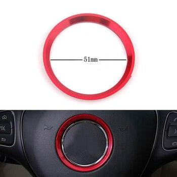 """Moldura para cubierta del volante Interior de 2 """"51mm, anillo de decoración, pegatina de estilismo para coche para Mercedes Benz A B E GLK CLA GLE ML GL S Class"""