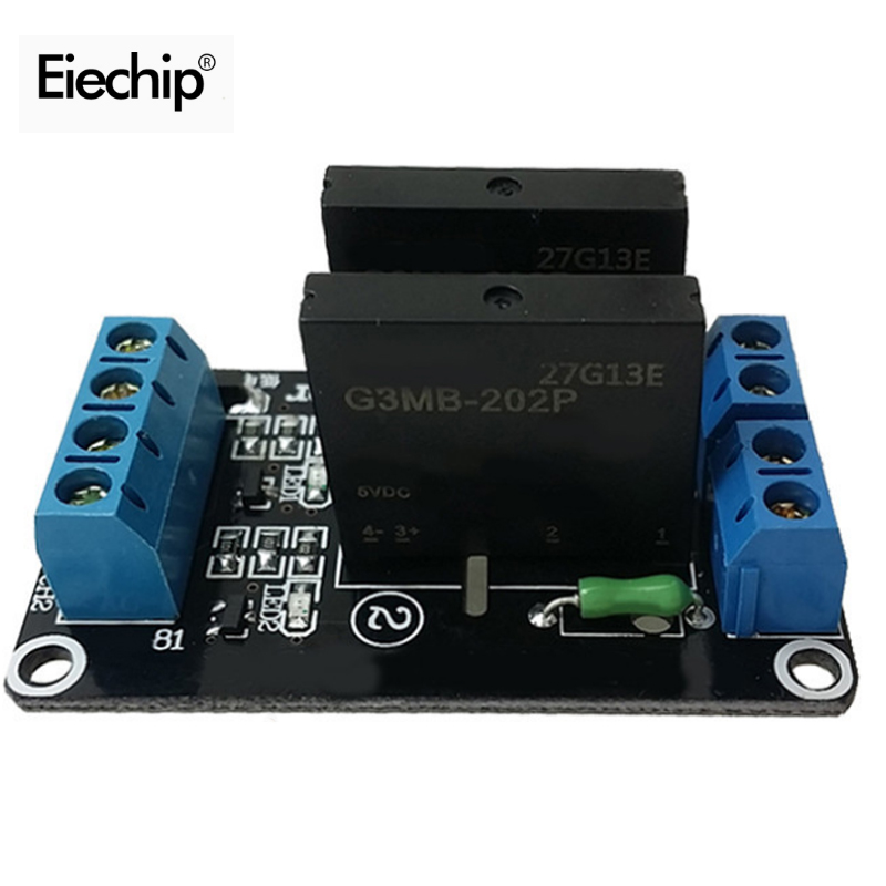 2 Channel 5V DC Relay Module Solid State High Level SSR AVR DSP Accessories for font
