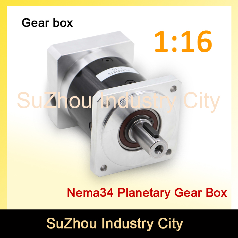 Nema34 stepper Motor Planetary Reduction Ratio 1:16 planet gearbox 86 motor speed reducer, High Torque high quality 6~8 arcmin! цена и фото