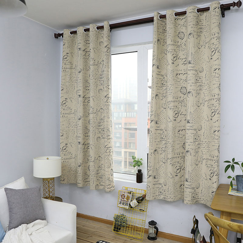 European Modern Print Blackout Curtain Solid Shading for Bedroom Livingroom Kitchen Window Treatment Blind Drape Home Decoration-in Curtains from Home & Garden
