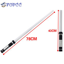 ФОТО 1pcs cosplay flashing sword lightsaber boy gril toys star wars laser sword luminous music telescopic children's outdoor gift