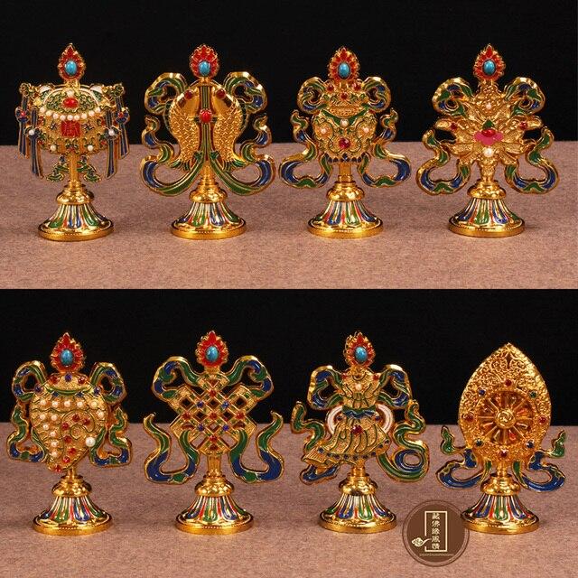 New Special Price Tibetan Buddhist Supplies Eight Auspicious Symbols