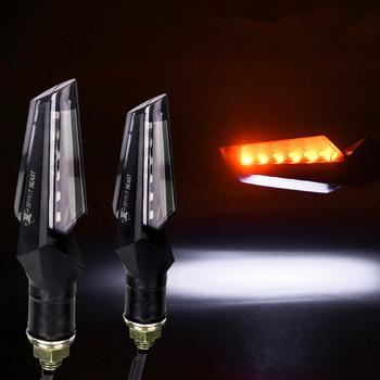 LED oświetlenie kierownicy migające reflektor 12Led wskaźnik migacz świetlny lampy włącz światła części zamienne do motocykli 2 sztuk akcesoria motocyklowe tanie i dobre opinie Włącz Sygnał Świetlny SPIRIT BEAST