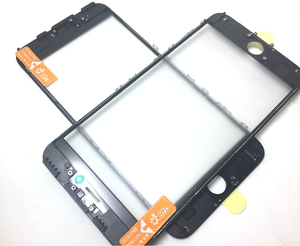 Image 4 - 10pcs cold press 3 in 1 Front Screen Glass With Frame OCA For iphone 5 5s 6 6s 7 7g 8 8p X plus repair black white Replacement
