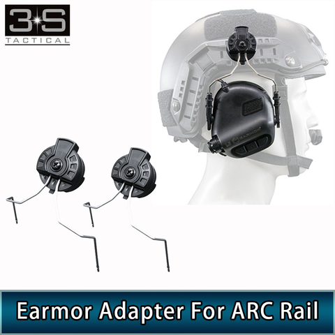 opsman earmor m11 para arco ferroviario capacete fone de ouvido adaptador tatico militar airsoft capacete