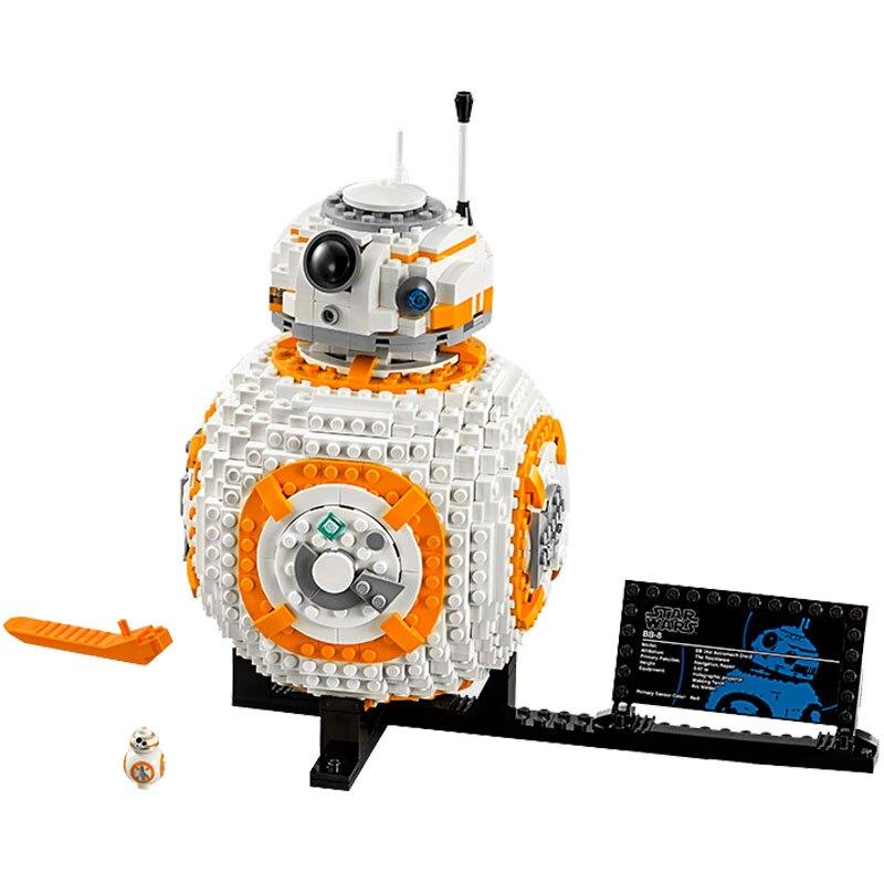 Star Wars serii rycerz Jedi BB8 Robot 1238 sztuk klocki DIY klocki kompatybilne z Starwars zestawy w Klocki od Zabawki i hobby na  Grupa 1