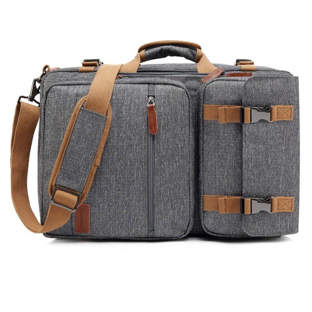 Convertible Backpack Laptop shoulder bag 17.3 17 inch notebook bag Messenger Bag Laptop Case Handbag Business Briefcase Rucksack