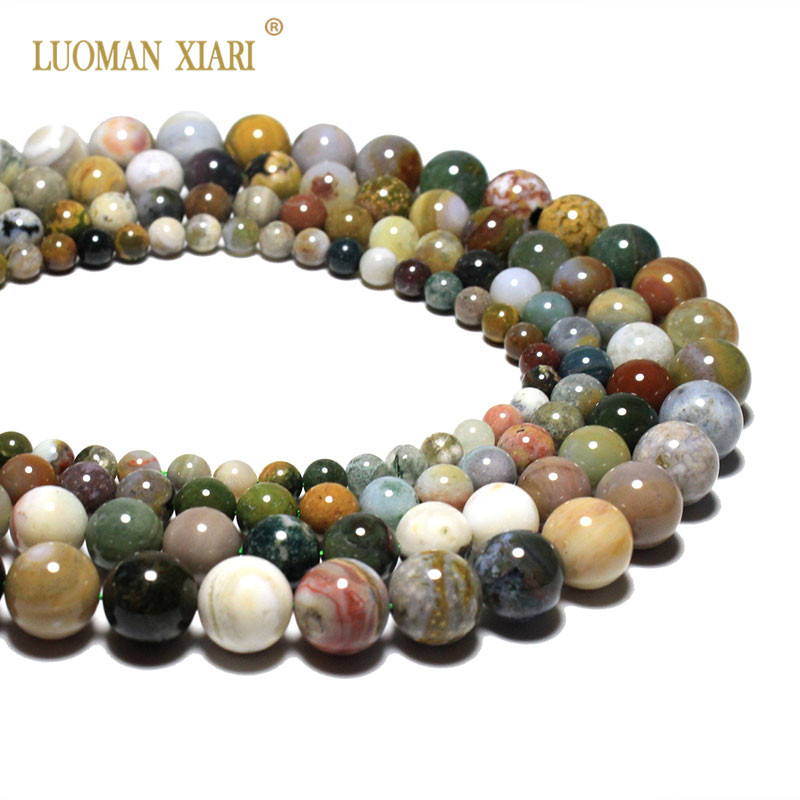 Wholesale New Arrival Colorful Morganite Agates Gem Beads For Jewelry Making Diy Bracelet Necklace 4 6 8 10 12 Mm Strand 15 Keep You Fit All The Time Jewelry & Accessories