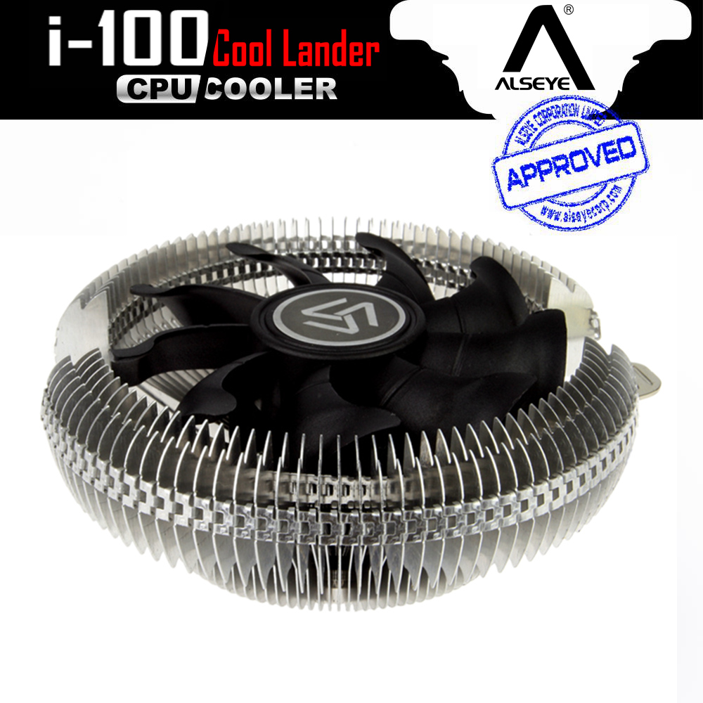 ALSEYE i-100 (2pieces) Aluminum heatsink cpu cooler with 1900RPM 90mm fan for computer cpu 12v cooling fan cooler for asus u46e heatsink cooling fan cooler