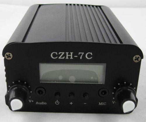 7 Вт CZH-7С FM стерео PLL вещания передатчика 76 МГц-108 МГц + DP100 1/2 волна диполь Антенна + Powersupply Кит крышка 1.5 КМ-3 КМ