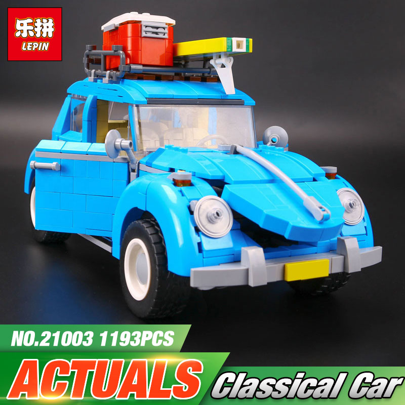 2017 LEPIN 21003 Series City Car Classical Travel Car model Building Blocks Bricks Compatible Technic Car Educational Toy 10252 lepin 21003 series city car beetle model building blocks blue technic children lepins toys gift clone 10252