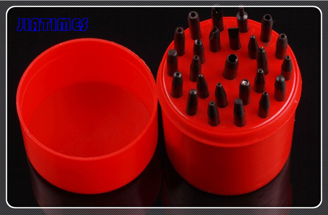 Hot 1 Set Staking Tool Punches x 25 Assorted Size Holes Watch Repairs Tools Repair Kit New