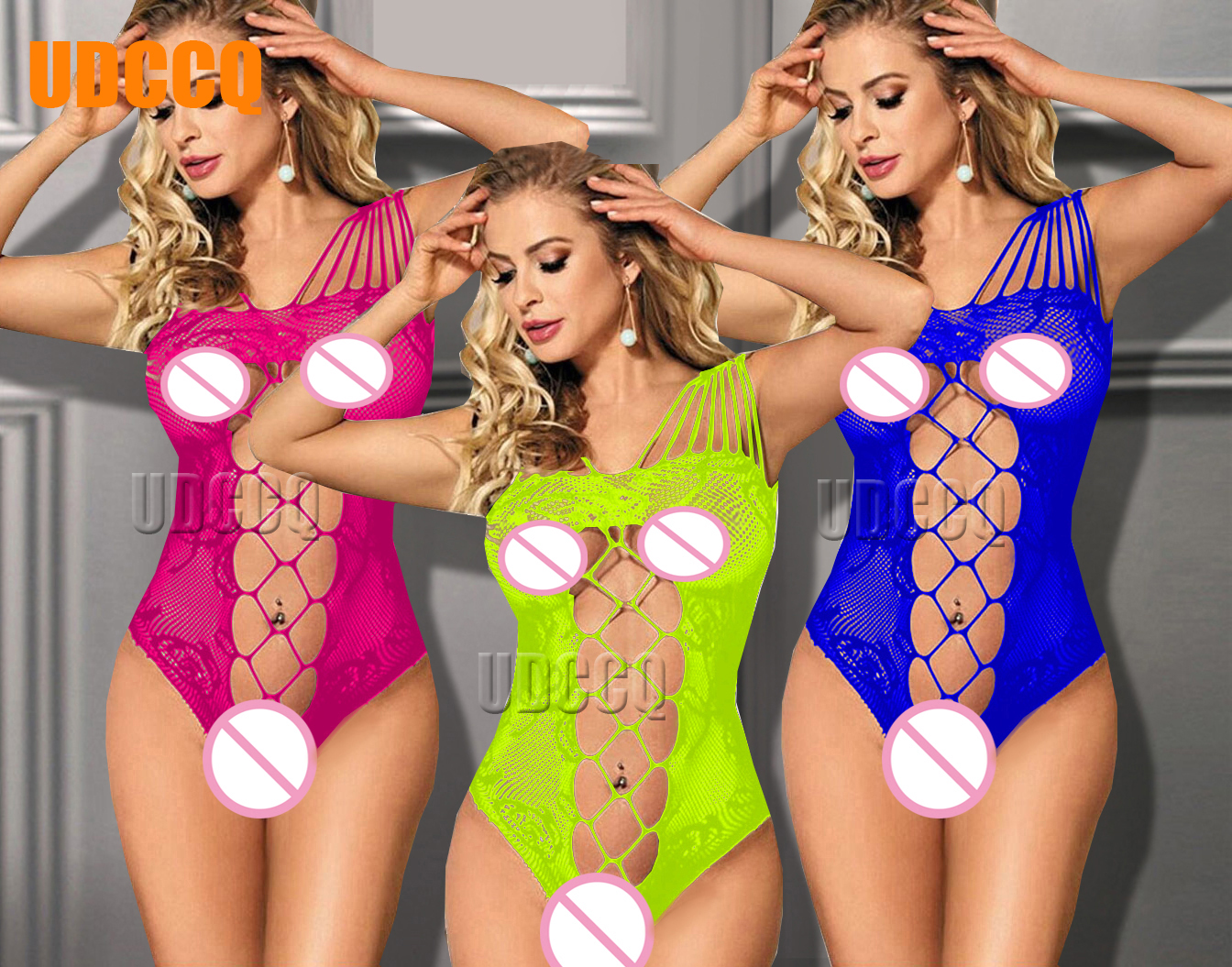 Sexy Sleepwear Lingerie Babydoll BODYSUIT Mesh Floral Body Stocking Temptation Teddy Catsuit Nightwear Product Erotic 8989