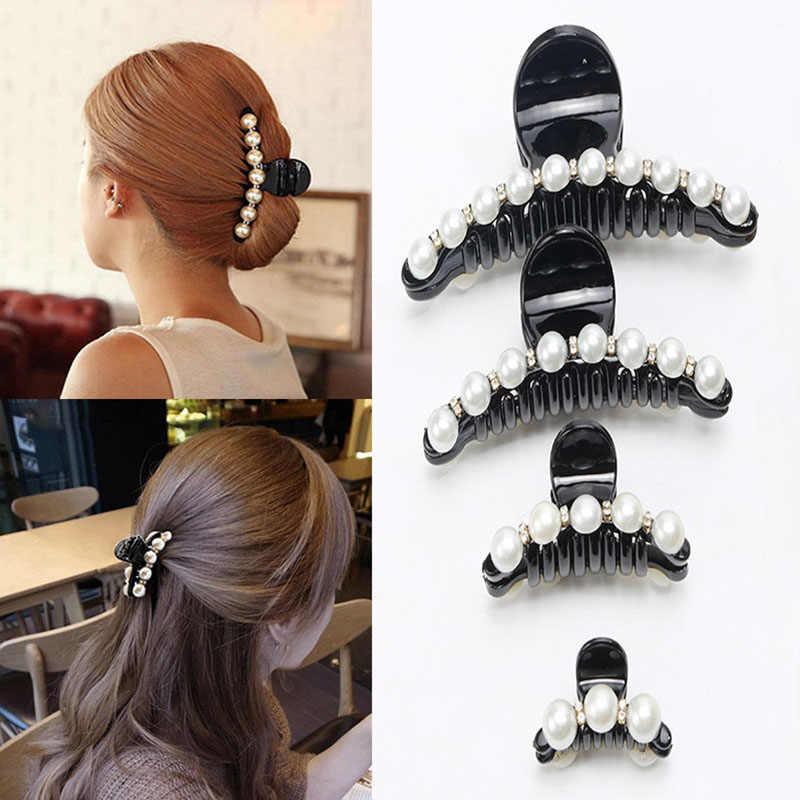 Big Rhinestone Jepit Rambut untuk Wanita Mutiara Rambut Klip Kepiting Rambut Cakar untuk Anak Perempuan Jepit Rambut Hiasan Kepala Rambut Pins Aksesoris O294