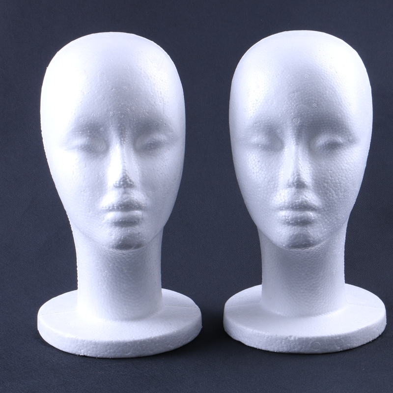 HARMONY 1 Piece Styrofoam Foam Mannequin Manikin Head Stand for Display Hair Wig Hair Glasses Hat and Jewellery