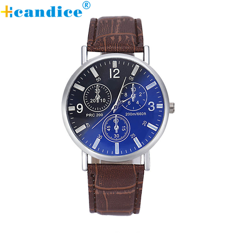 Retro Design Watch Men Luxury Crocodile Faux Leather Analog Blu-Ray Business Wrist Watches Relogio Masculino Creative Apr05 creative fashion boy girl watch 2016 kids cute pig printed watches faux leather men analog watch student relogio free shipping