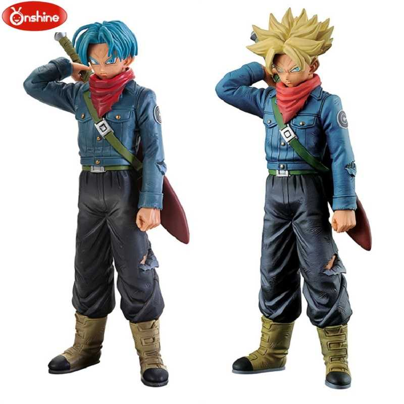 Dragon Ball Z Super Estatueta THE son Goku SUPER SAIYAN Troncos de GUERREIROS v-preto pvc Modelo Figura Toys