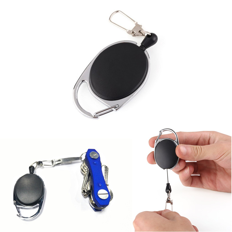 Key Chain Mini Protable Adjustable Outdoor Sports Camping Hiking EDC Telescopic Spring Type  Key Ring For Car Travel Boy Girl