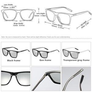 Image 5 - Thương Hiệu Tắc Kè Hoa Kính Mát Photochromic Nam Nữ Ngày Đêm Với Kính Nhôm Chân Oculos Gafas De Sol Hombre