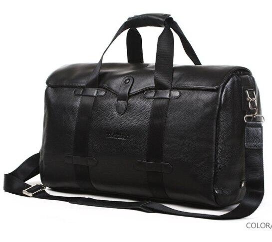 Bostanten Travel mens big bags 100% Genuine Real Men Cowhide Leather Shoulder bag Huge Luggage Tote mens Handbag Messenger