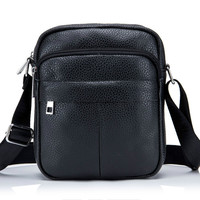 High Quality Messenger Leather Men S Shoulder Bag Durable Waterproof Men S Bag Leisure Purses Purse