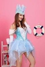 Ensen mujeres adultas alice in wonderland queen dress cosplay traje de las mujeres de flores de lujo de la princesa viste el envío libre