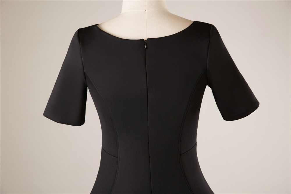 JaneVini Vestidos proste czarny matka panny młodej suknie z rękawami V Neck Zipper powrót Satin zestaw do parzenia herbaty długość suknie wieczorowe dla kobiet