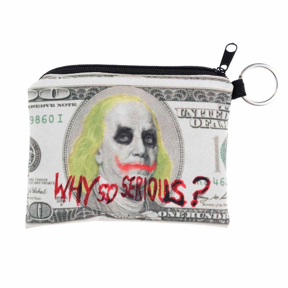Impressão menina bolsa da mudança bolsa de moedas de Embreagem sacos de zíper de zero carteira tecla do telefone
