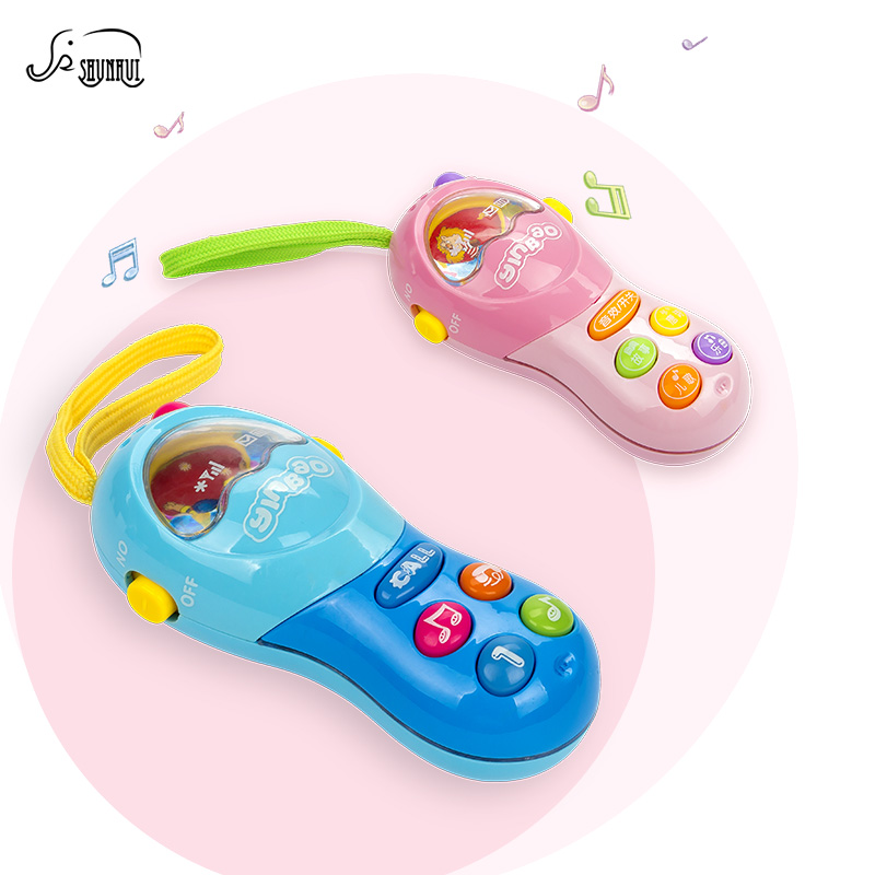 SHUNHUI Baby Mini Electronic Mobile Phone Toy Kids Musical Cell Phone with Music Sound Song Learning Toys Gift for Children