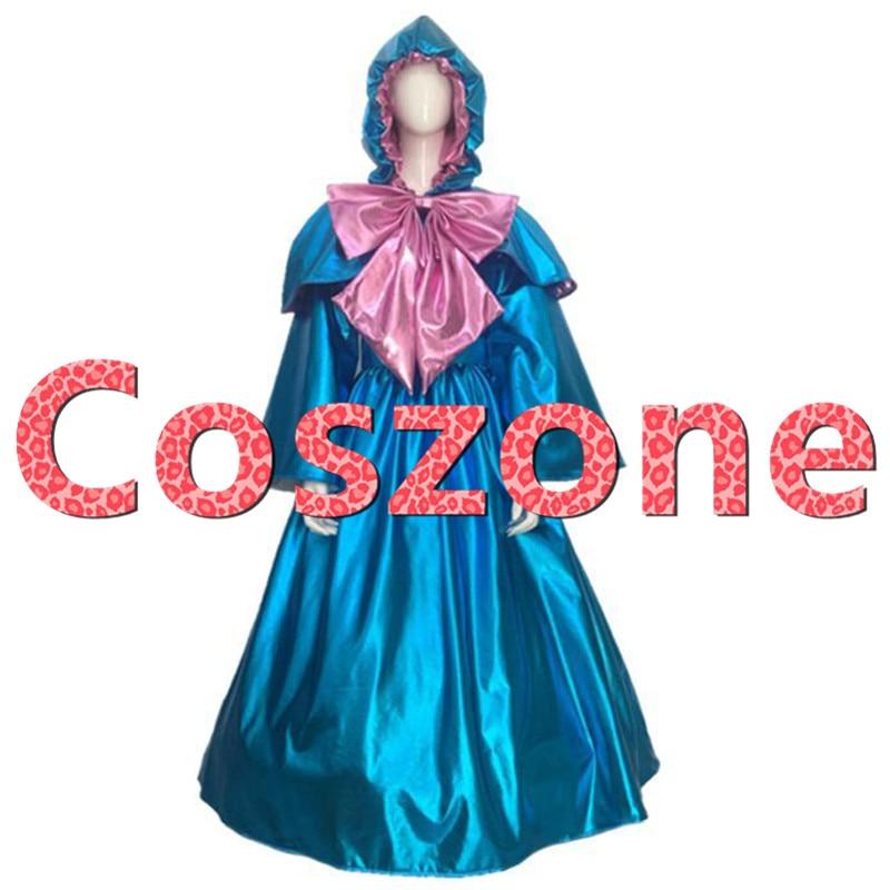 Cinderella Fairy Godmother Dress Cosplay Costume Halloween Carnival Party Costume Custom