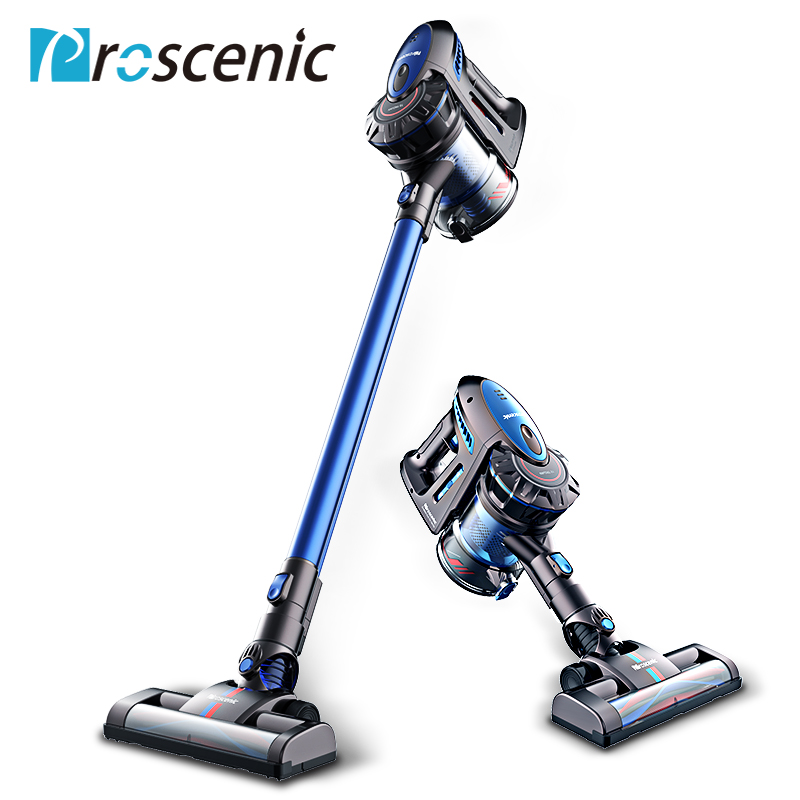 proscenic p8 lightweight cordless vacuum cleaner battery rechargeable detachable bagless. Black Bedroom Furniture Sets. Home Design Ideas