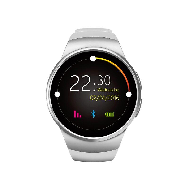 2016 Original KW18 Full Round IPS Heart Rate Smart Watch MTK2502 BT4 0 font b Smartwatch