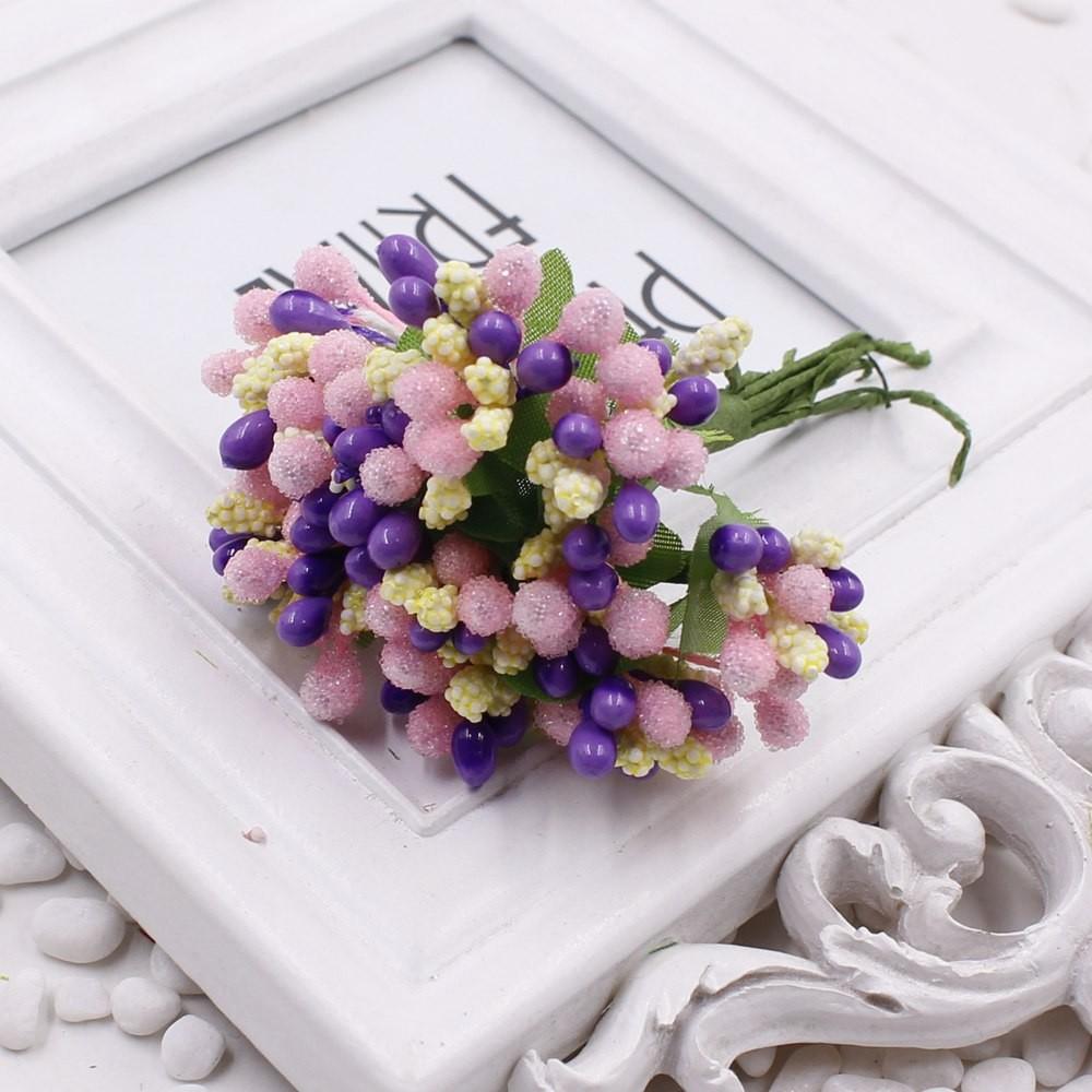 16 12pcs Berry Artificial Stamen Handmade Flower For Wedding Home Decoration Pistil DIY Scrapbooking Garland Craft Fake Flower 10